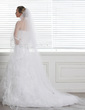 Two-tier Cathedral Bridal Veils With Ribbon Edge (006004370)