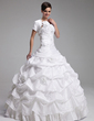 Short Sleeve Taffeta Wedding Wrap (013022579)