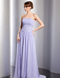A-Line/Princess Strapless Court Train Chiffon Evening Dress With Ruffle Beading Sequins (017014802)