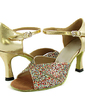 Dla kobiet Sparkling Glitter Skóry lakierowanej Obcasy Sandały Latynoska Buty do Tańca (053013306)