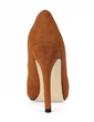 Suede Stiletto Heel Sandals Peep Toe shoes (085017497)