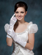 Elastic Satin Elbow Length Bridal Gloves (014020503)