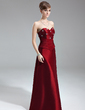 A-Line/Princess Sweetheart Floor-Length Taffeta Bridesmaid Dress With Ruffle Beading (007002105)