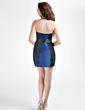 Sheath/Column Strapless Short/Mini Taffeta Homecoming Dress With Sash Bow(s) (022015828)