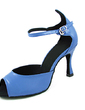 Women's Patent Leather Heels Sandals Latin With Ankle Strap Dance Shoes (053013184)