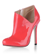 Patent Leather Stiletto Heel Pumps Closed Toe Ankle Boots shoes (088020539)