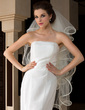 Four-tier Fingertip Bridal Veils With Scalloped Edge (006036624)