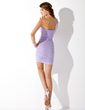 Sheath/Column One-Shoulder Short/Mini Chiffon Cocktail Dress With Ruffle Bow(s) (016008449)