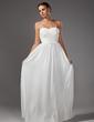 Çan/Prenses Kalp Kesimli Uzun Etekli Chiffon Mezuniyet Elbisesi Ile Çiçek(ler) (018005109)