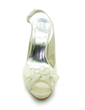 Women's Satin Cone Heel Peep Toe Platform Sandals Slingbacks With Satin Flower (047017773)