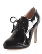 Patent Leather Stiletto Heel Platform Closed Toe Ankle Boots shoes (088020611)