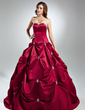 Ball-Gown Sweetheart Chapel Train Satin Quinceanera Dress With Beading (021015583)