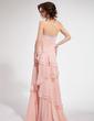 A-Line/Princess Strapless Floor-Length Chiffon Prom Dress With Beading Cascading Ruffles (018019423)