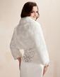 Long Sleeve Faux Fur Wedding Wrap (013020425)
