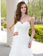 A-Line/Princess Sweetheart Court Train Tulle Wedding Dress With Ruffle Beading Appliques Lace (002000492)