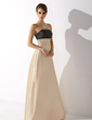 Empire Strapless Floor-Length Taffeta Bridesmaid Dress With Ruffle (007004290)