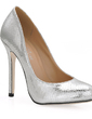 Women's Leatherette Stiletto Heel Closed Toe Pumps (047017503)