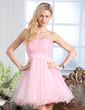 Empire Sweetheart Short/Mini Organza Homecoming Dress With Beading (022020830)