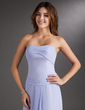 A-Line/Princess Sweetheart Tea-Length Chiffon Bridesmaid Dress With Ruffle (007001760)