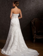 A-Line/Princess Sweetheart Court Train Tulle Wedding Dress With Ruffle Beading Appliques Lace (002015167)