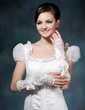 Elastic Satin Elbow Length Bridal Gloves (014020478)