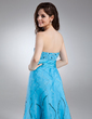 A-Line/Princess Sweetheart Floor-Length Organza Prom Dress With Ruffle Beading Sequins (018015952)