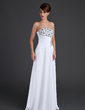 A-Line/Princess Strapless Floor-Length Chiffon Evening Dress With Ruffle Beading Sequins (017015609)