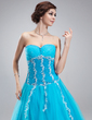 A-Line/Princess Sweetheart Floor-Length Tulle Quinceanera Dress With Beading Appliques Lace Sequins (021018808)