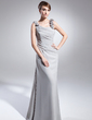 Sheath/Column Scoop Neck Floor-Length Chiffon Mother of the Bride Dress With Ruffle (008015006)