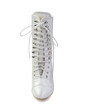 Women's Satin Chunky Heel Boots Closed Toe (047033113)