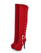 Süet İnce Topuk Platform Diz Boots fazla ayakkabı (088056368)