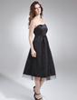 Imperialna Kochanie Do Kolan Satyna Tiul Suknia dla Druhny Ciążowa Z Żabot (045004405)