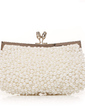 Gorgeous Silk/Pearl With Rhinestone Clutches (012012258)