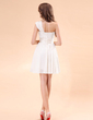 A-Line/Princess One-Shoulder Short/Mini Chiffon Homecoming Dress With Ruffle (022014406)
