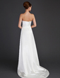 Sheath/Column Sweetheart Court Train Satin Wedding Dress With Bow(s) (002004549)