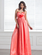 Empire Sweetheart Floor-Length Taffeta Bridesmaid Dress With Ruffle Flower(s) (007004229)