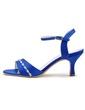 Women's Satin Stiletto Heel Pumps Sandals With Buckle Rhinestone (047039725)