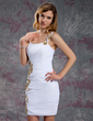 Sheath/Column One-Shoulder Short/Mini Chiffon Homecoming Dress With Ruffle Beading Appliques Lace Sequins (022010556)