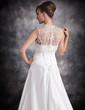 A-Line/Princess Sweetheart Court Train Taffeta Wedding Dress With Ruffle Beading (002011420)