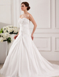 A-Line/Princess Sweetheart Chapel Train Taffeta Wedding Dress With Ruffle Lace Beading (002000468)