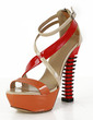 Patent Leather Chunky Heel Sandals Platform Wedges With Split Joint shoes (087026669)