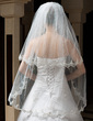 Two-tier Fingertip Bridal Veils With Lace Applique Edge (006034321)