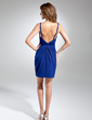 Sheath/Column Sweetheart Short/Mini Chiffon Cocktail Dress With Ruffle Beading (008015549)