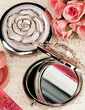 White Rose Cover Hard plastic Compact Mirror (051020223)