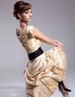 A-Line/Princess Square Neckline Knee-Length Taffeta Homecoming Dress With Ruffle Sash Beading (022011112)