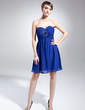 Empire Sweetheart Short/Mini Chiffon Homecoming Dress With Ruffle Beading (022015039)
