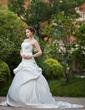 Balo Elbisesi Kalp Kesimli Katedral Kuyruk Satin Gelinlik Ile Büzgü Boncuklama (002012181)