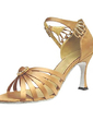 Women's Satin Heels Sandals Latin Ballroom Dance Shoes (053013247)