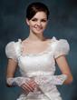 Elastic Satin Elbow Length Bridal Gloves (014020519)
