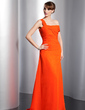 A-Line/Princess Off-the-Shoulder Sweep Train Chiffon Evening Dress With Ruffle (017014819)